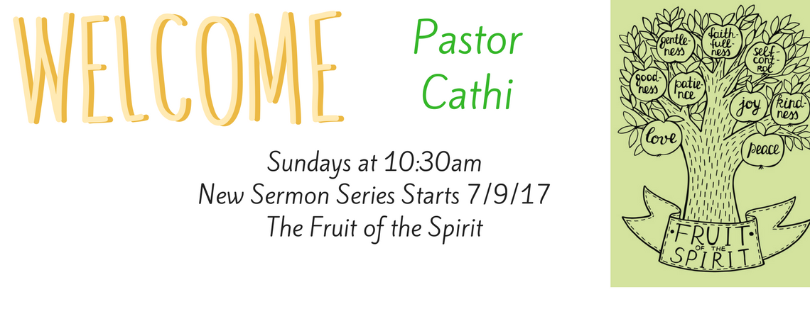 Welcome Pastor Cathi!